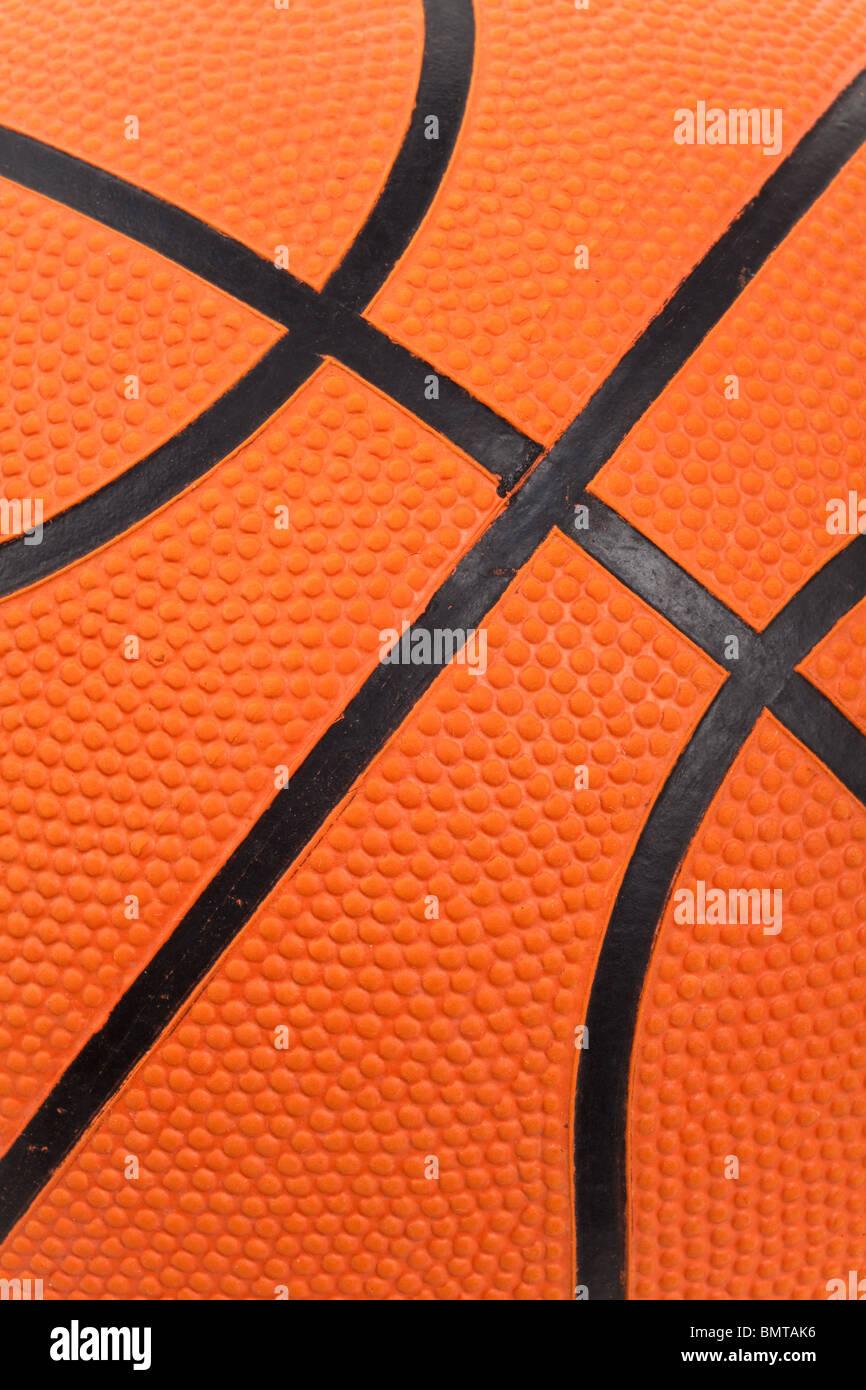 Orange Basketball Nahaufnahme Schuss Stockbild