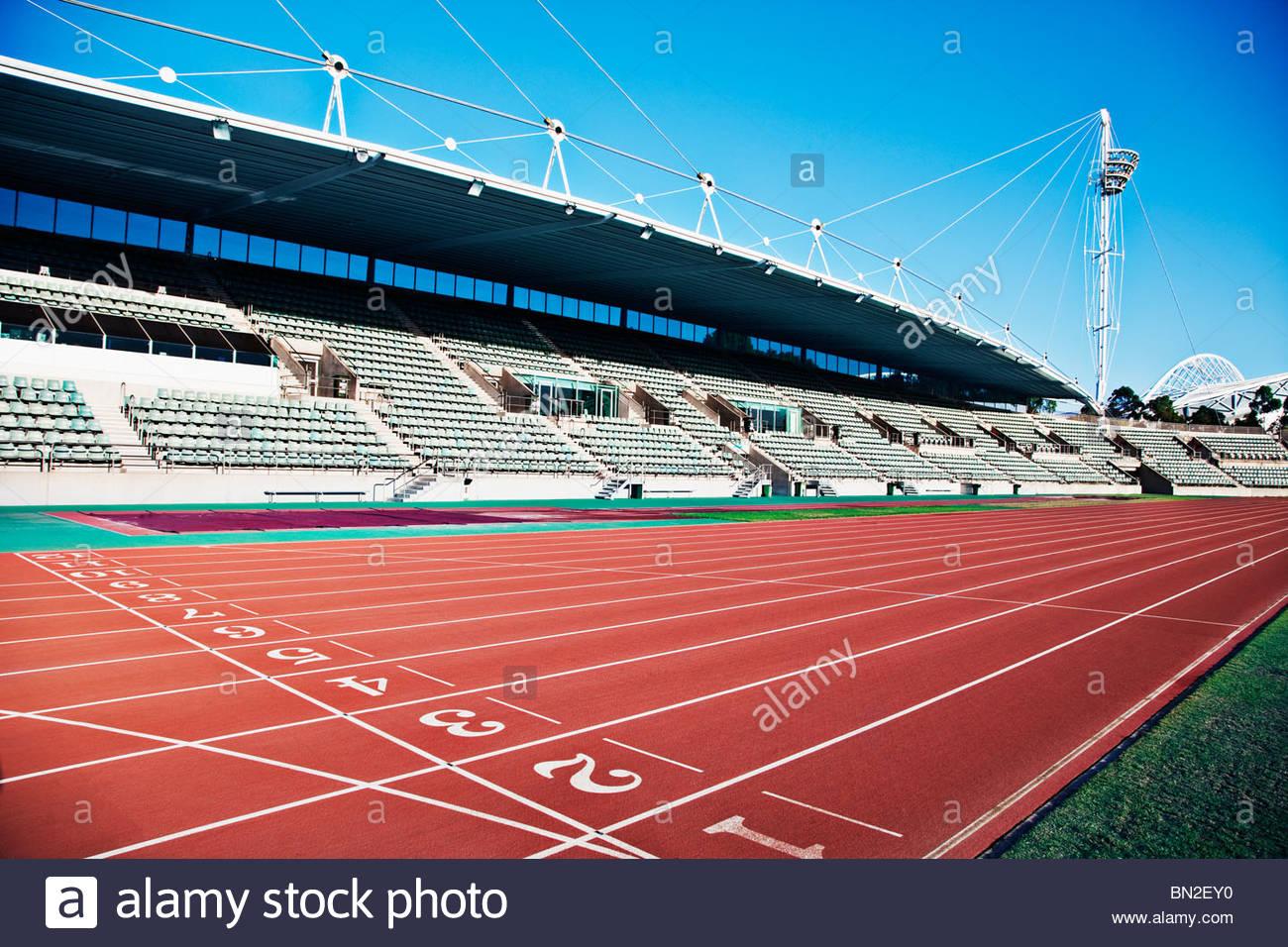 Stadion und Rennstrecke Stockbild