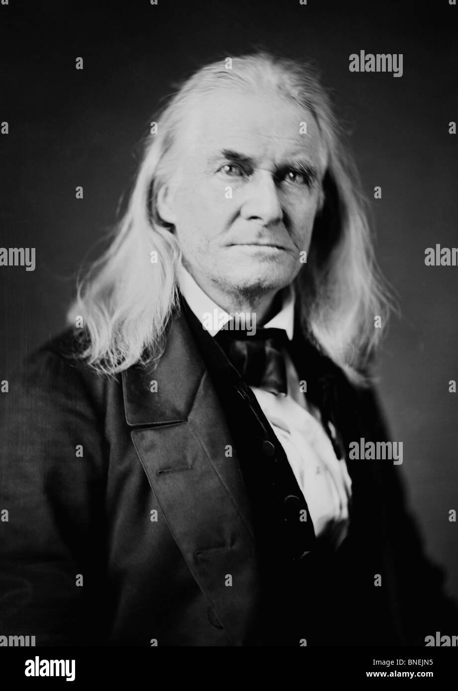 Edmund Ruffin (1794-1865) - mit dem ersten Schuss des amerikanischen Bürgerkriegs in Schlacht von Fort Sumter Stockbild