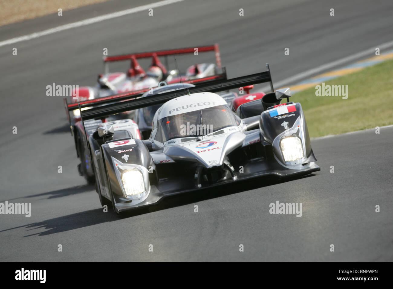 Peugeot LMP1-Sportwagen, Le Mans 24 Stunden. Stockbild