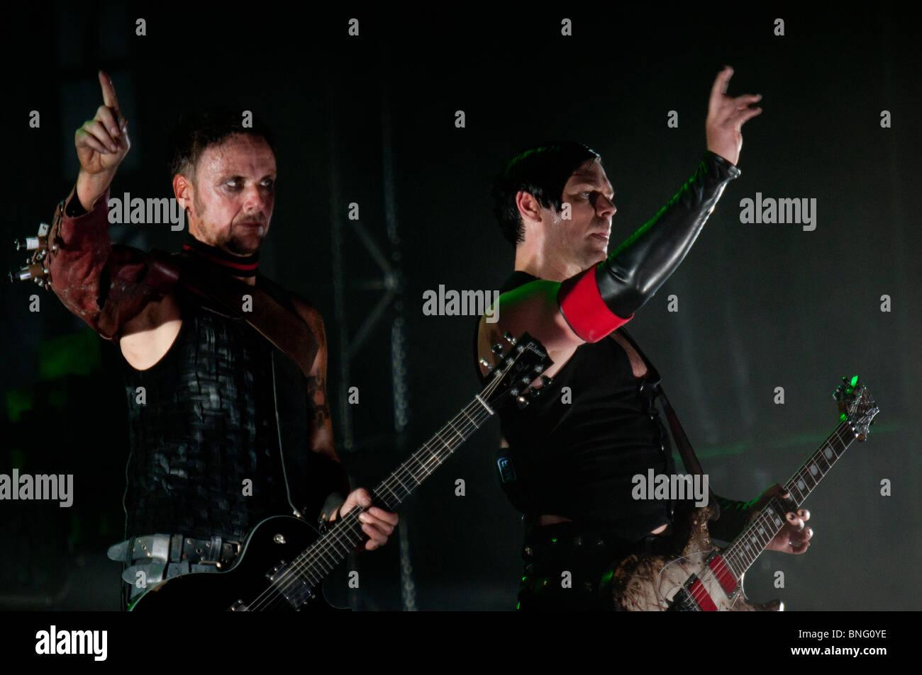 Richard Kruspe und Paul Landers, Rammstein-Gitarristen Stockbild