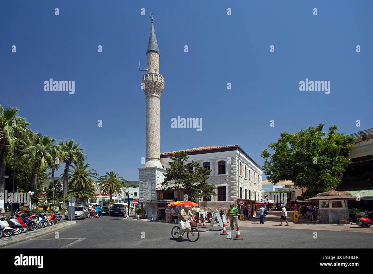 Juni 2008 Türkei Bodrum Stadt Mittelmeer Küste Adiye Moschee Stockbild