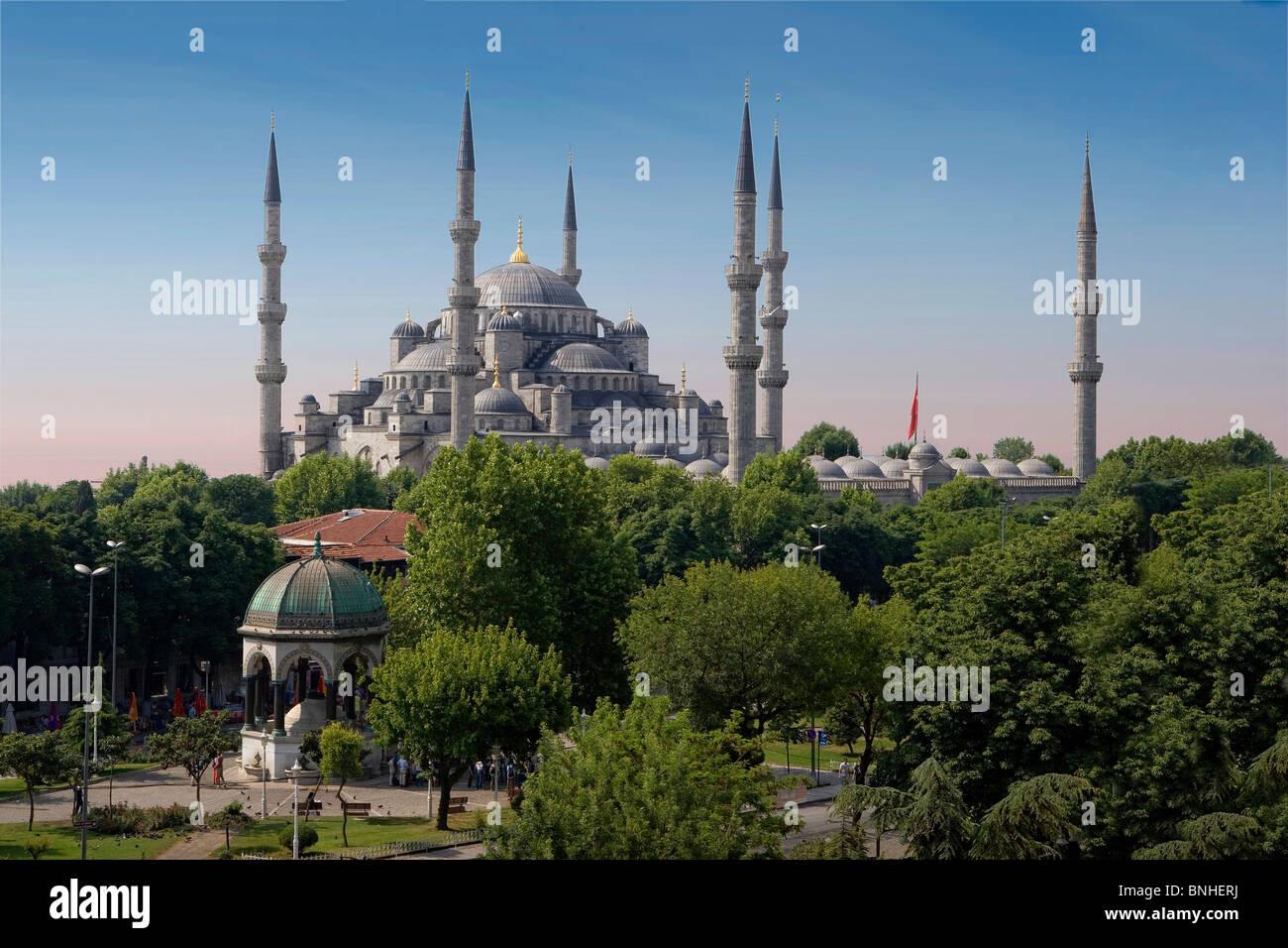 Juni 2008 Türkei Istanbul Stadt blaue Moschee Sultan Ahmed Mosque Stockbild