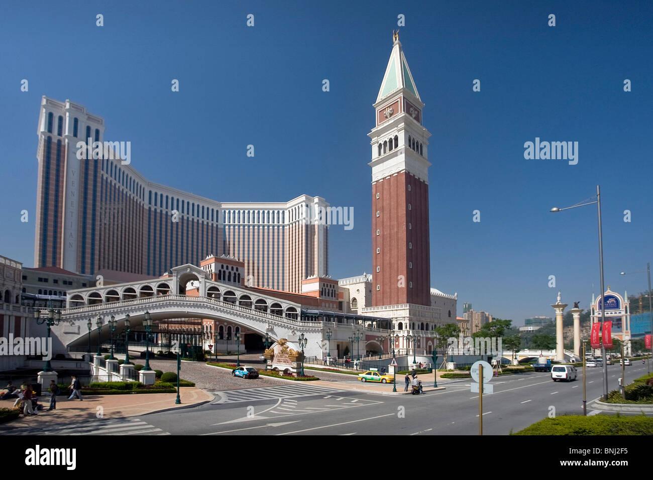 China Macao Macau Stadt Venetian Casino Casino Venedig simulation Stockbild