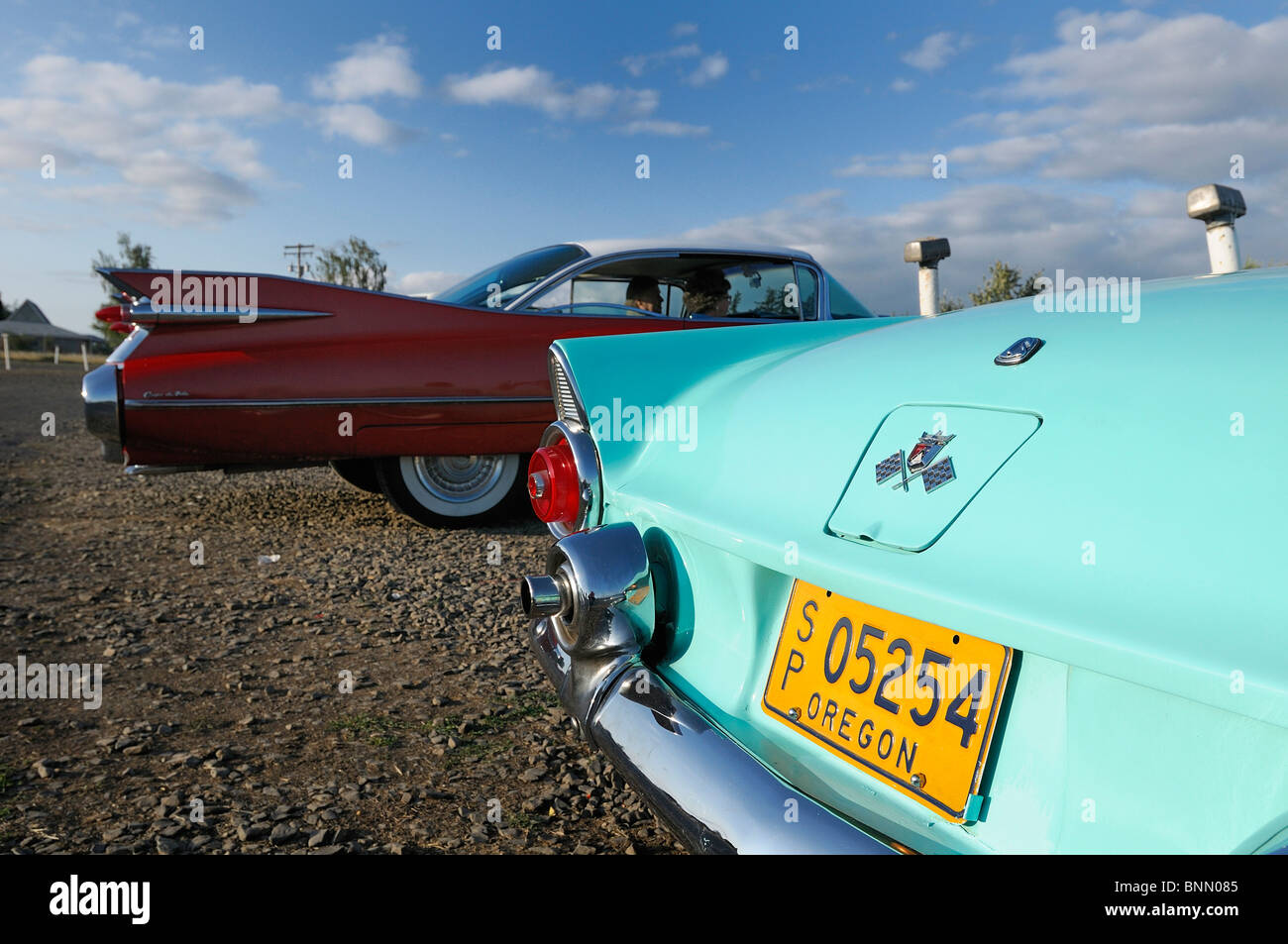 Oldtimer Auto Motor Vu fahren In Dallas Oregon USA 50ties, Stockbild