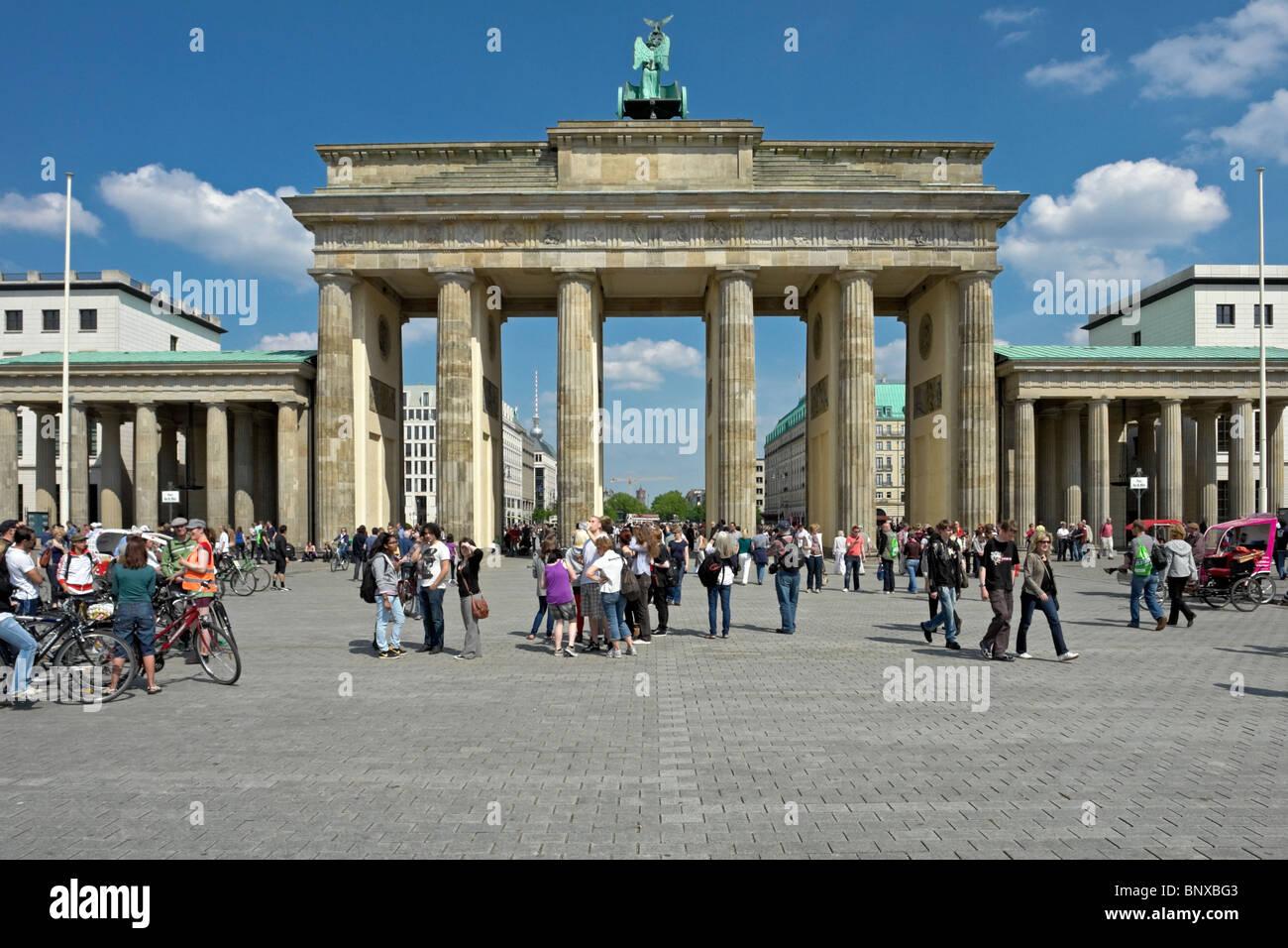 Brandenburger Tor oder Tor in Berlin Deutschland Stockbild