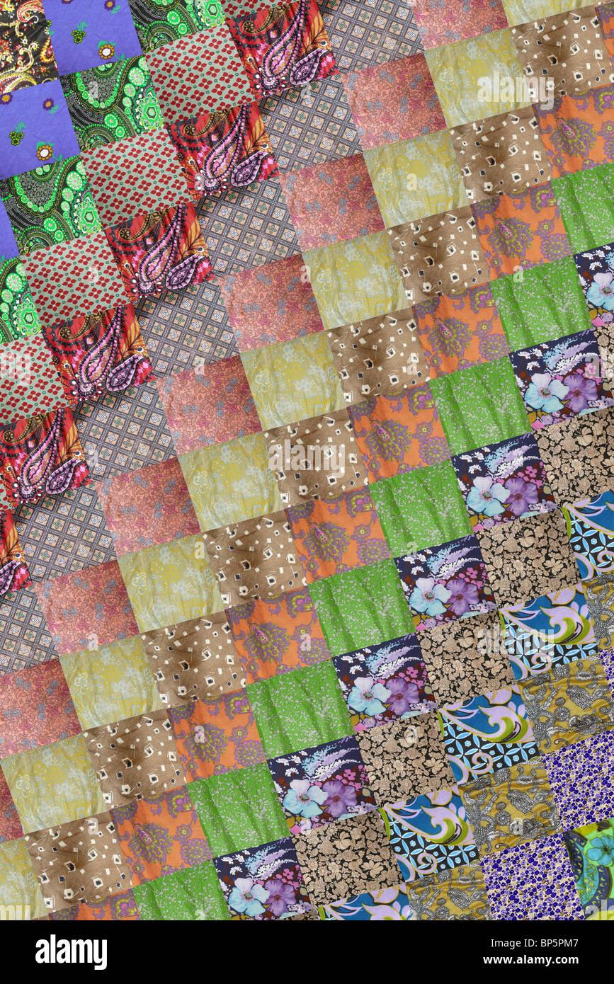 Quadratische Patchwork-Muster Stockbild
