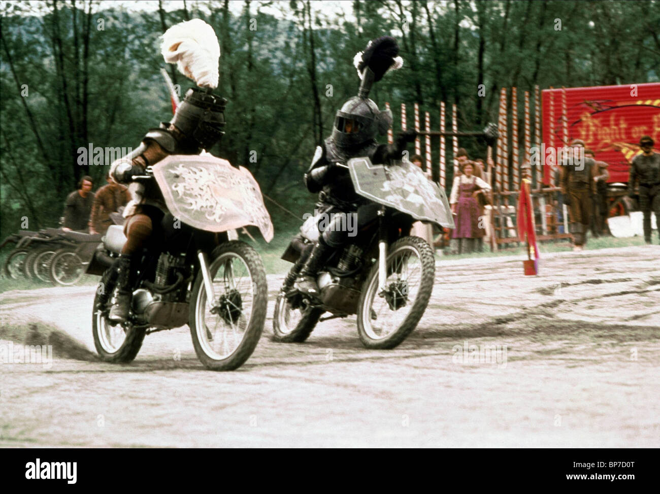 MOTORRAD DUELL KNIGHTRIDERS (1981) Stockbild