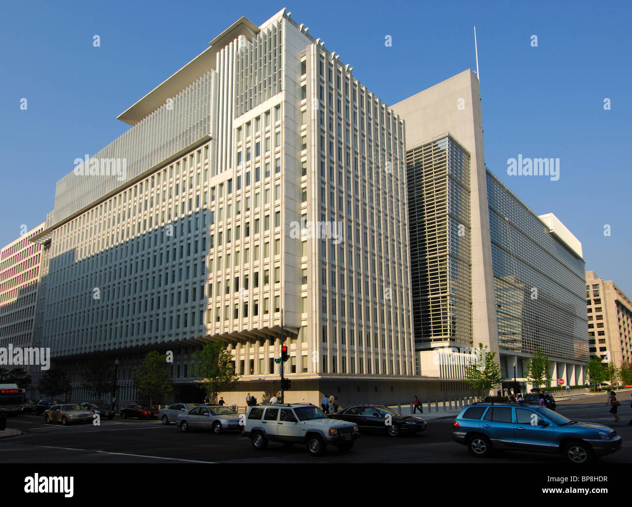 Hauptsitz der internationalen Bank für Wiederaufbau und Entwicklung (IBRD), Weltbank, Washington, D.C., USA Stockbild