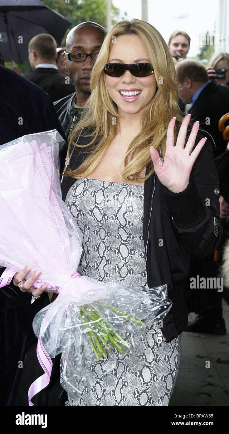 Mariah Carey in Moskau eingetroffen Stockbild