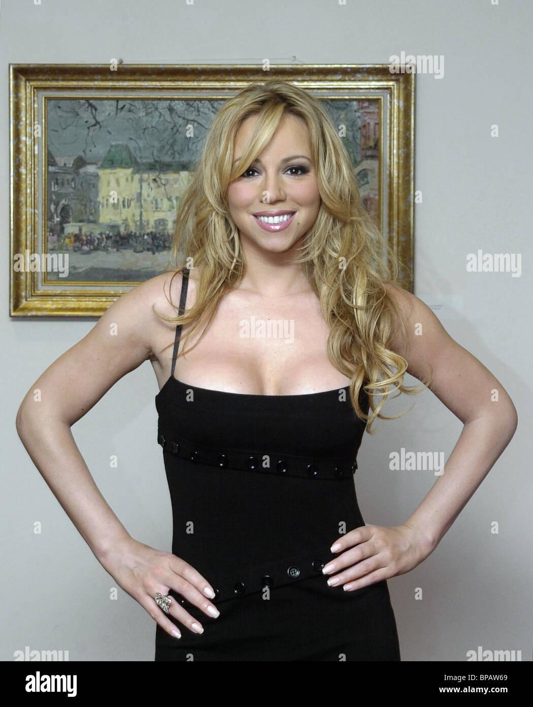 Mariah Carey in Moskau Stockbild