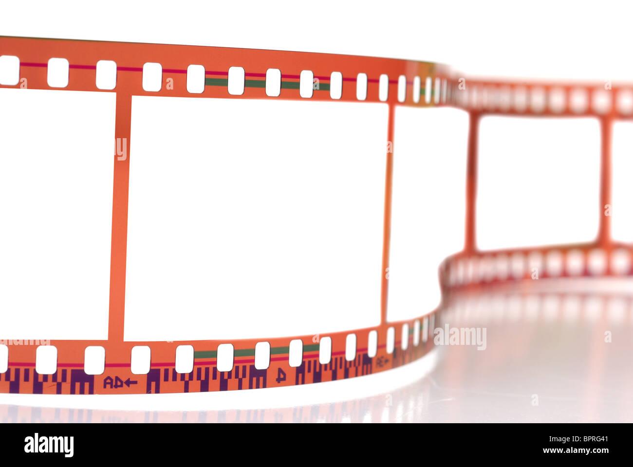 Nahaufnahme Bild des 35mm-Film strip isolierten auf weißen Hintergrund Stockbild