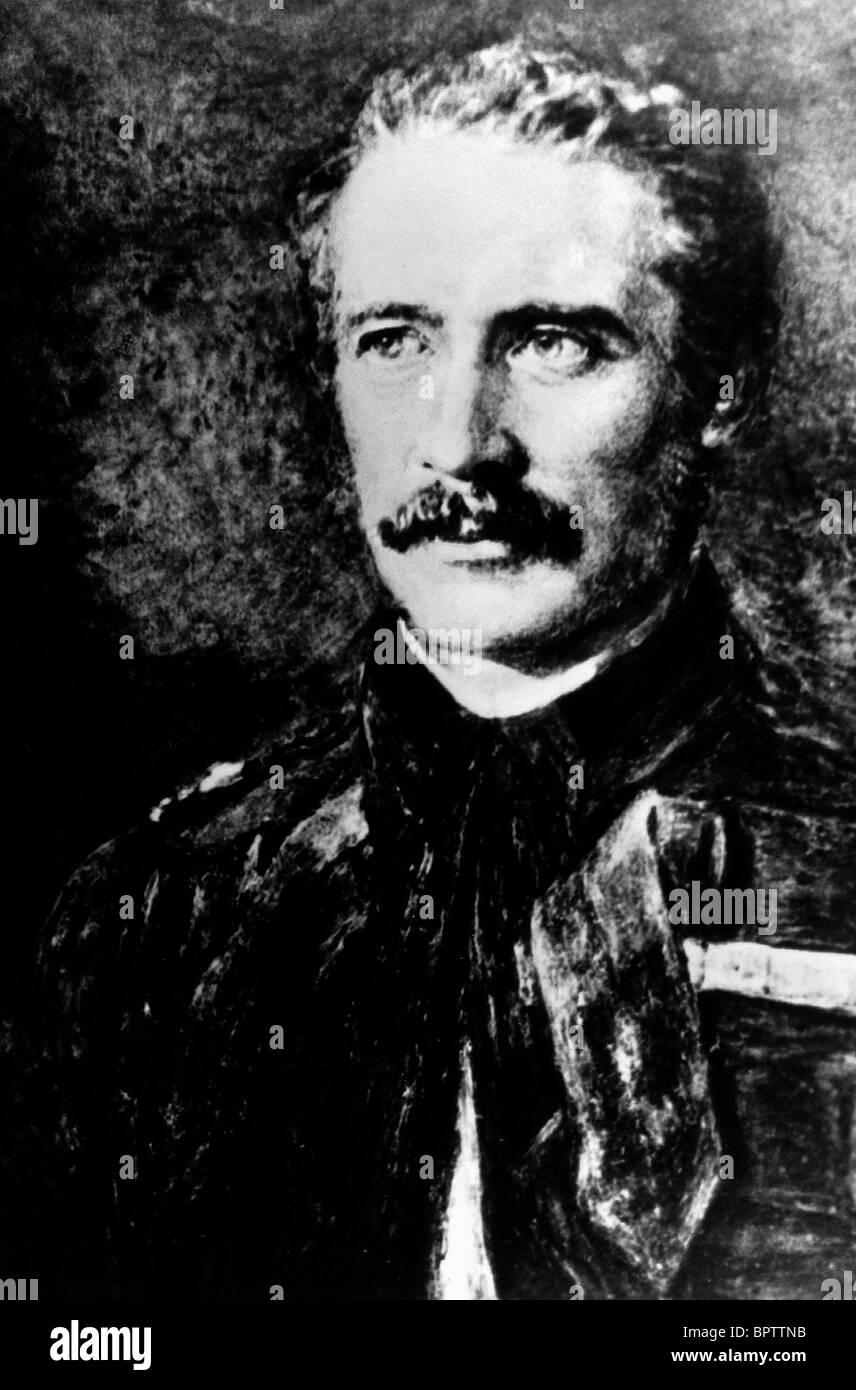 GENERAL CHARLES GORDON COMMANDER DER BRITISCHEN KOLONIALZEIT (1877) Stockbild