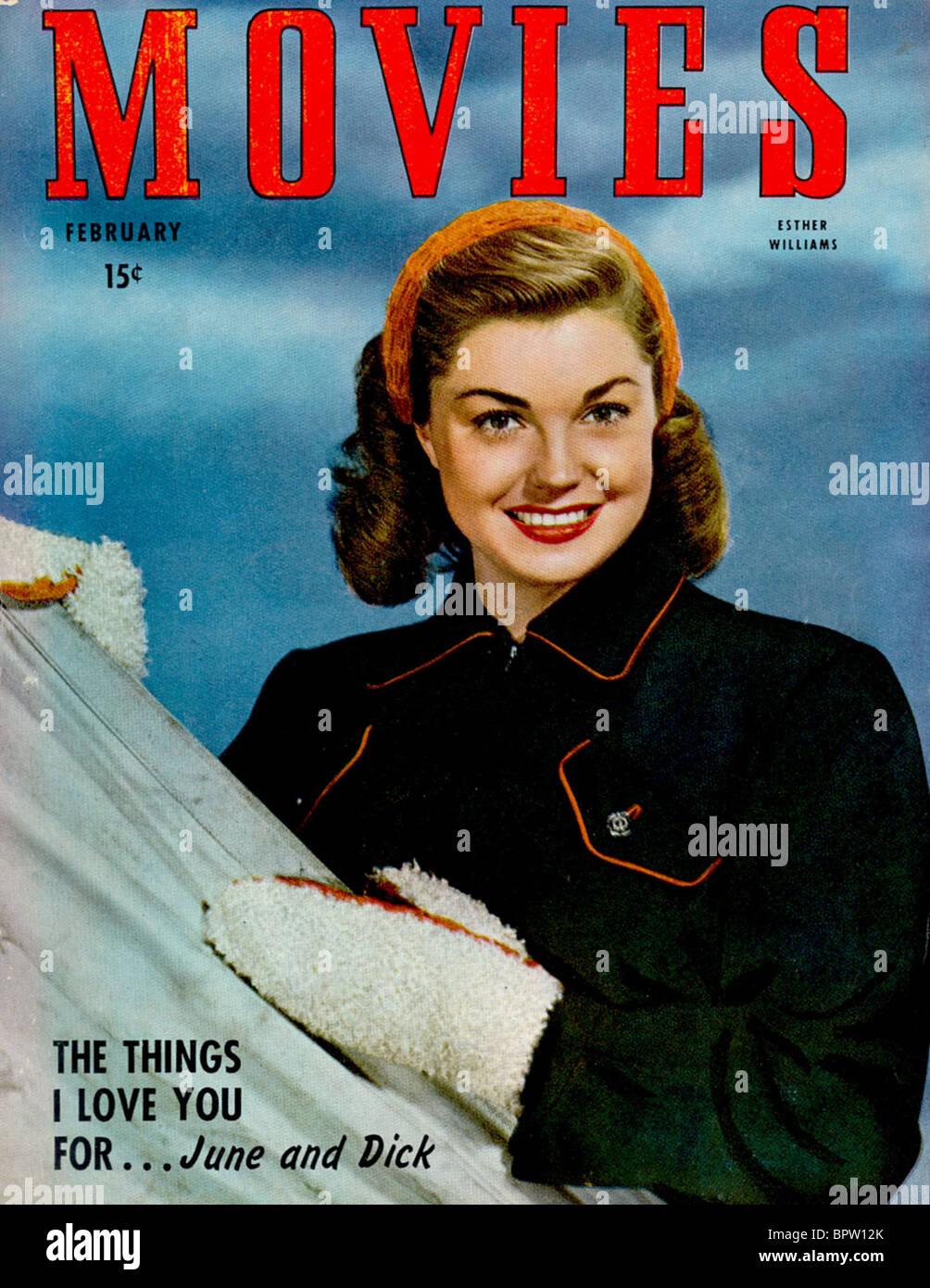 ESTHER WILLIAMS FILME MAGAZIN-COVER (1947) Stockbild