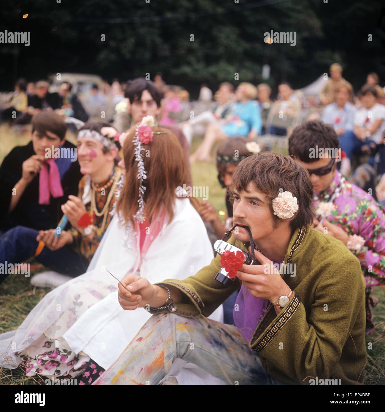 Hippie in London, 1967 Stockfoto
