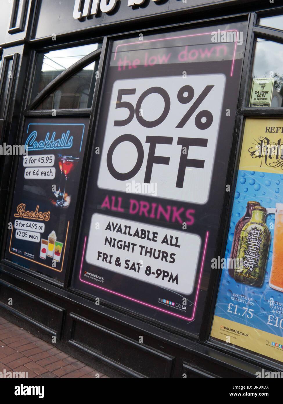 Billige alkoholische Getränke Stockbild