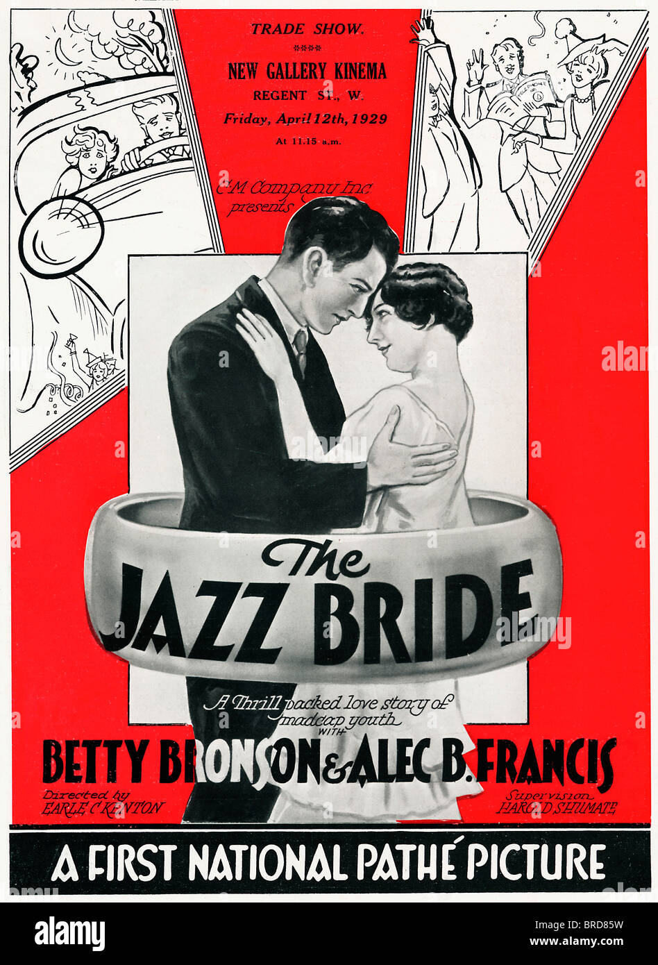 Jazz-Braut, Plakat für die 1928 US-Stummfilm mit dem englischen Titel für ein Nervenkitzel verpackt Love Stockbild