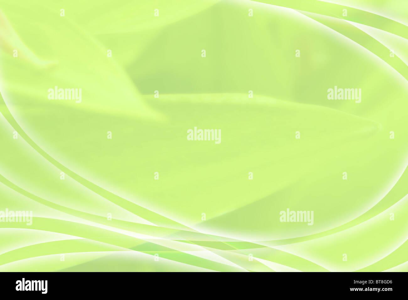 Das Bild der Abstraktion in Form von grünen Wellen und Linien Stockbild