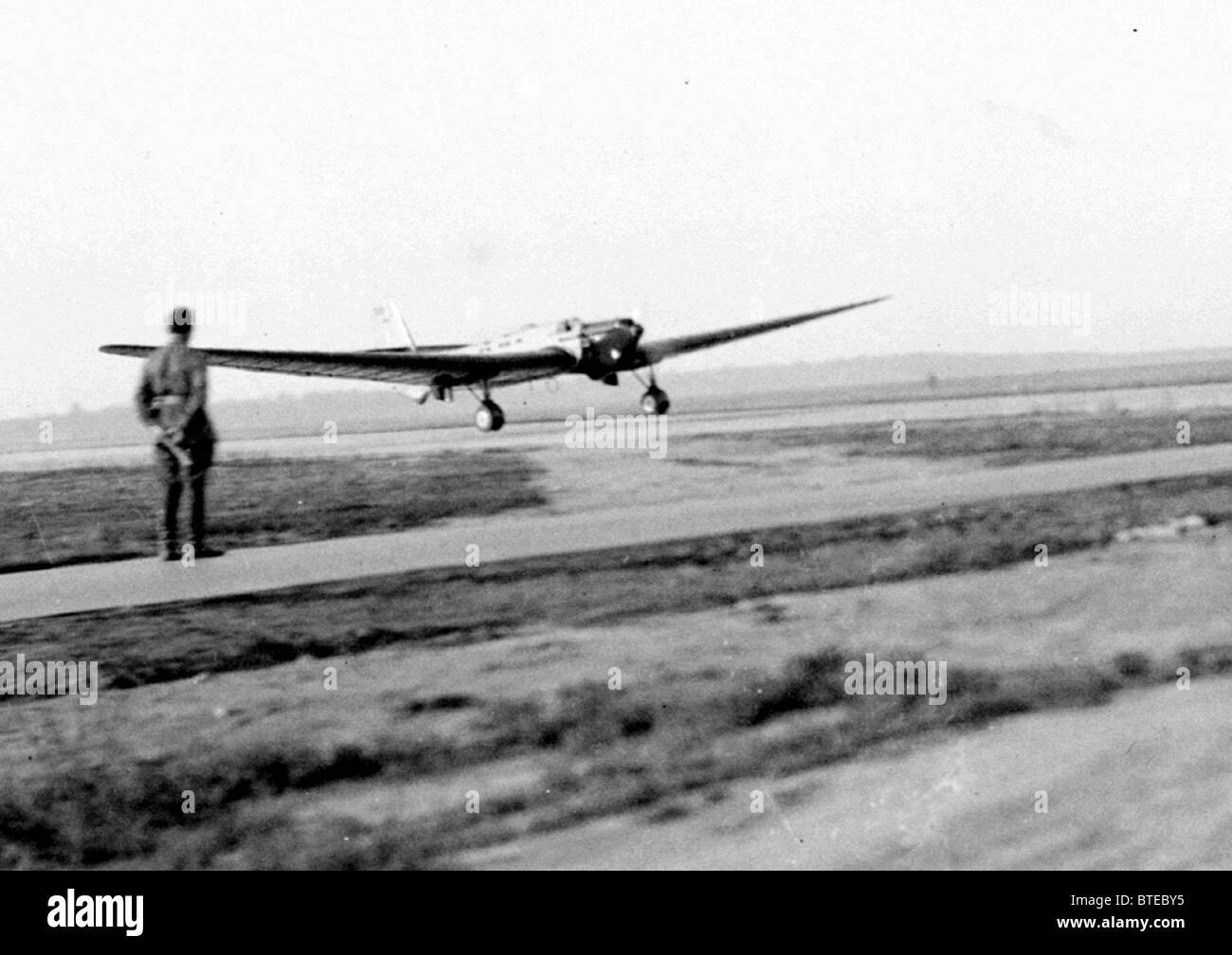 Der legendäre Flug der ANT-25 Stockbild