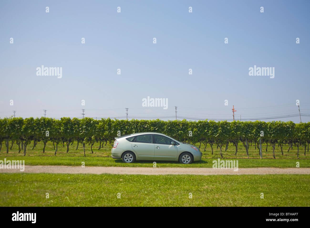 Toyota Prius Hybrid Atuomobile Stockbild