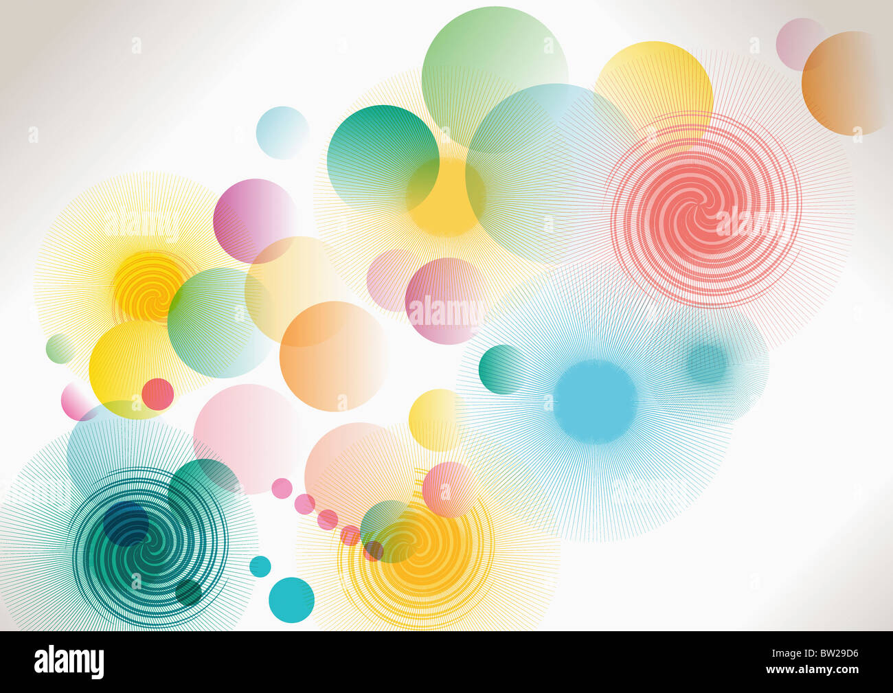 bunte eingekreisten Muster Stockfoto