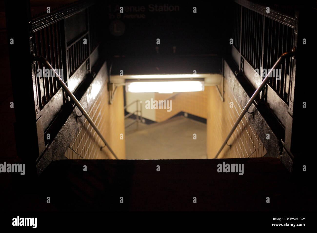 u-Bahn Eingang Ausgang Stockbild