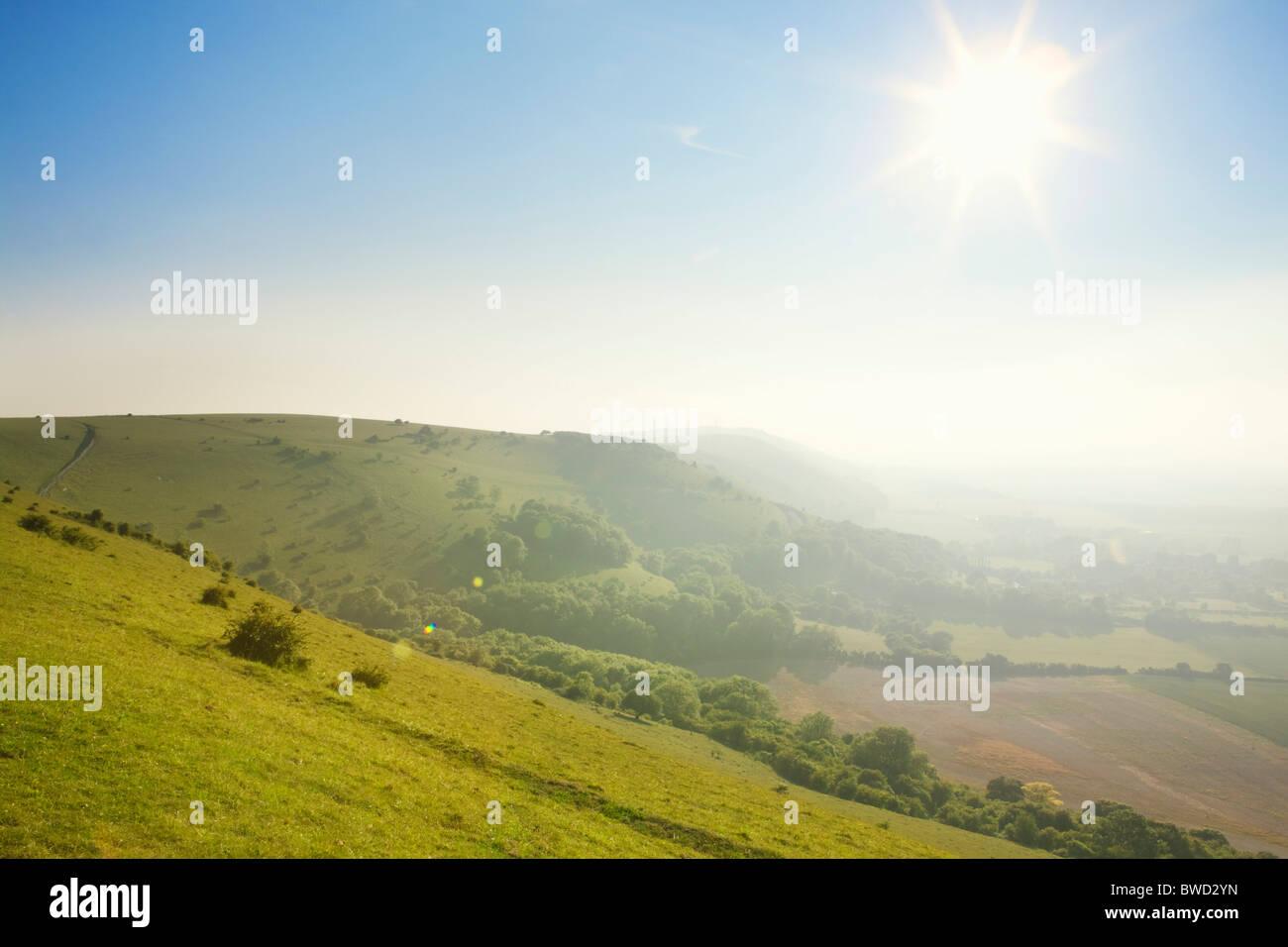 South Downs; West Sussex; England, Großbritannien Stockbild