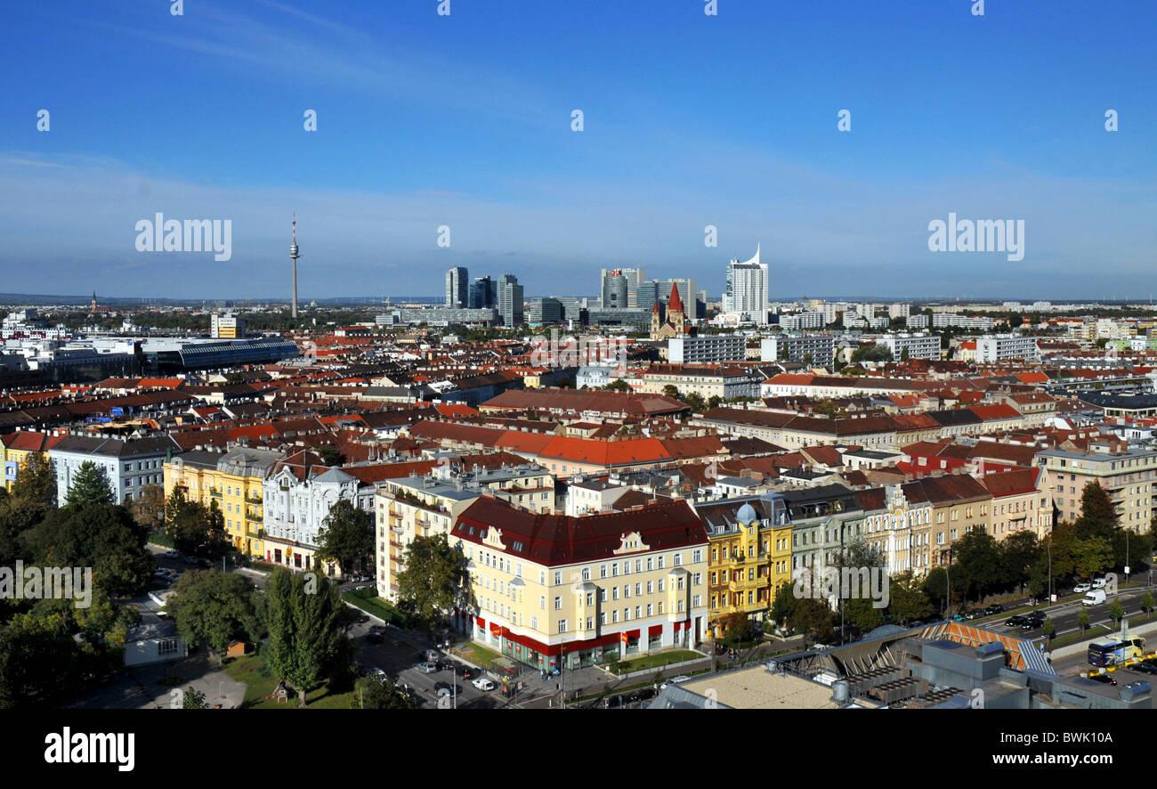Wien, Austria, Europe, Blick über die Hauptstadt Wien in Österreich Stockbild