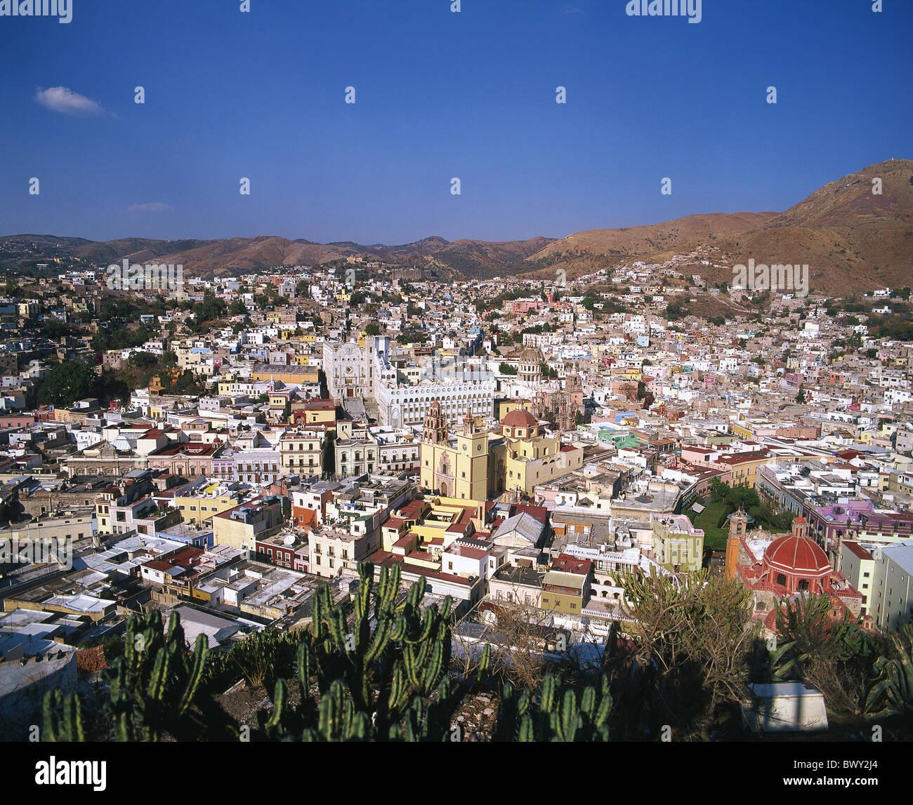 Guanajuato Mexiko Mittelamerika Lateinamerika Städte Städte Übersicht Stockbild