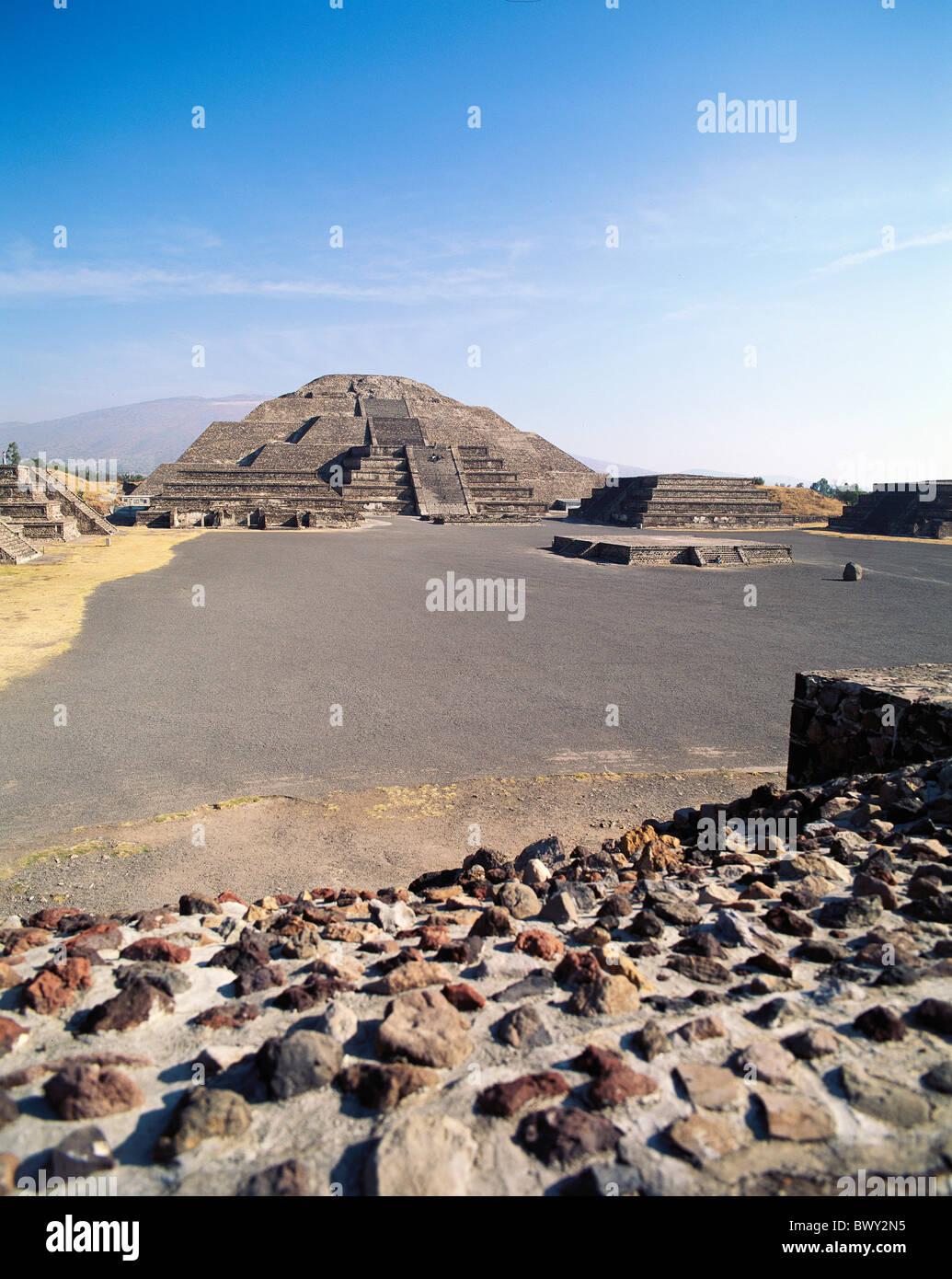 Allee der Toten Kultur Mexiko Mittelamerika Lateinamerika Mond Pyramide Teotihuacan Todesstrasse Stockbild