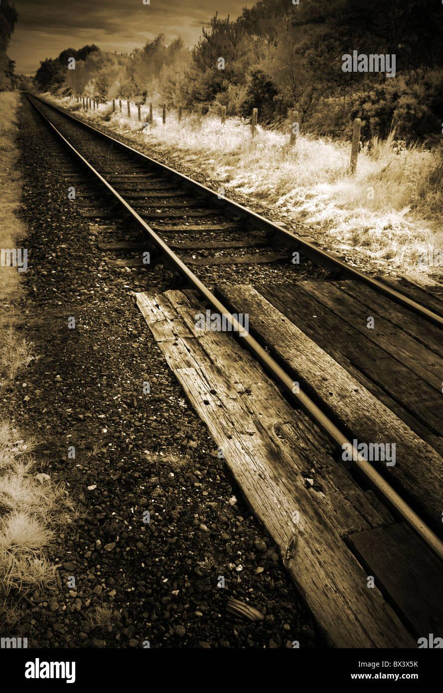 Eisenbahnstrecke Stockbild