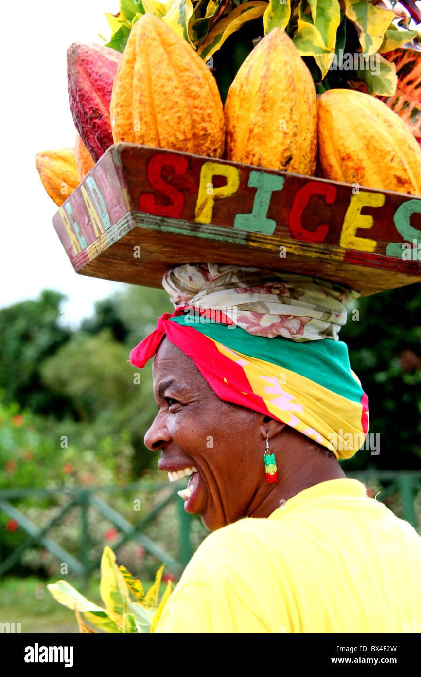 Karibische Blume Dame. Stockbild