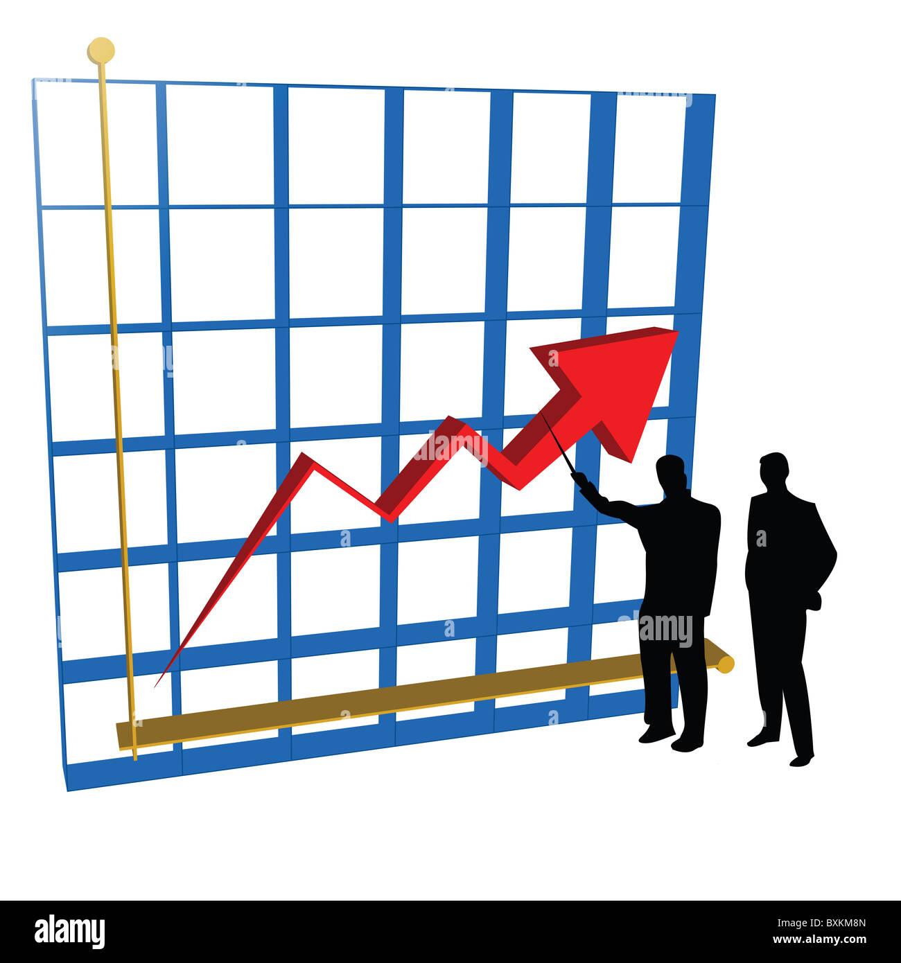 Grafik-Diagramm Stockbild