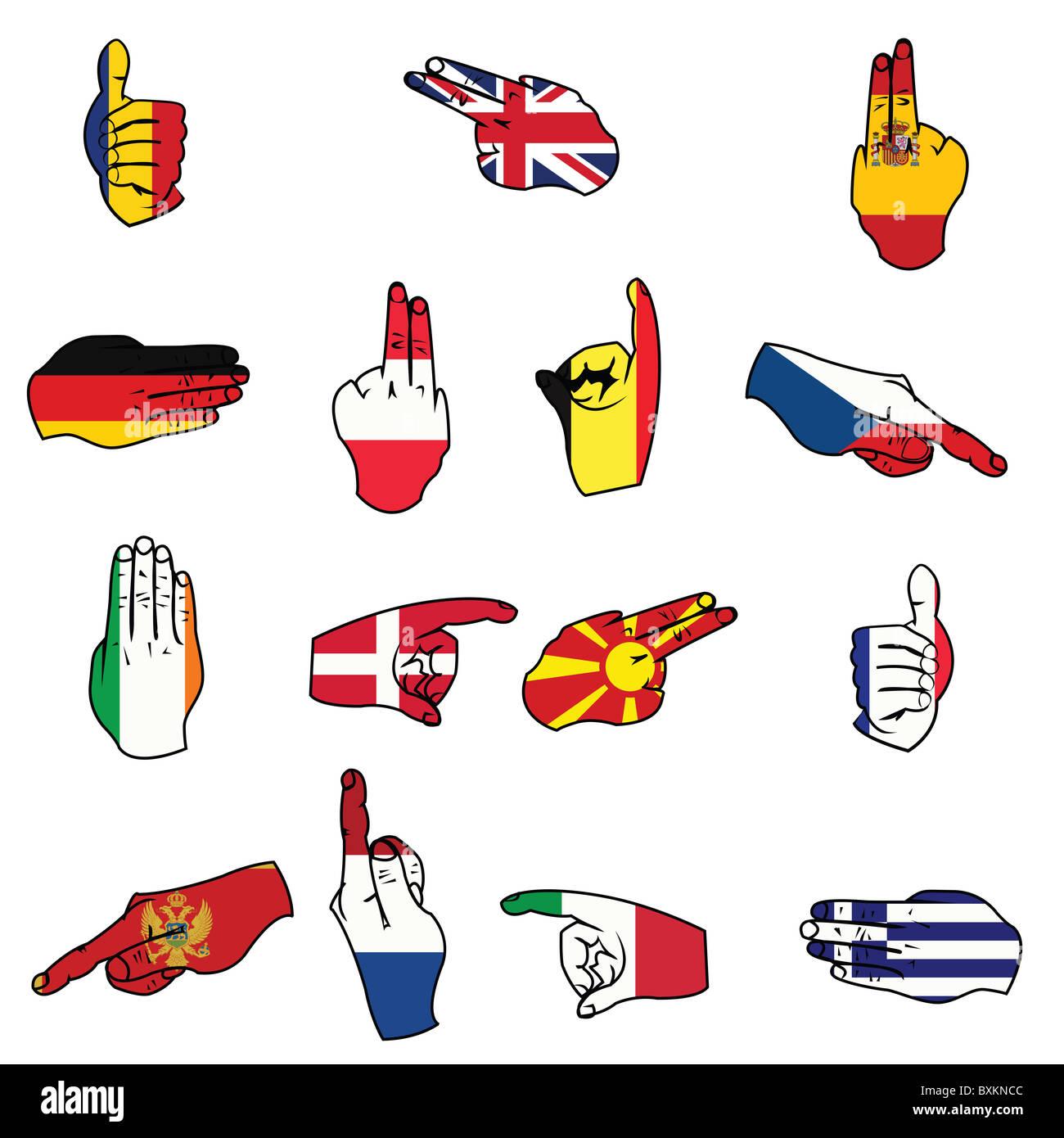 Flaggen von Europa Stockbild
