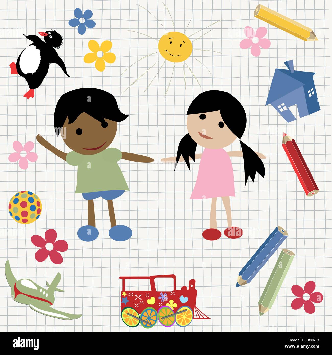 Kindlichen design Stockbild