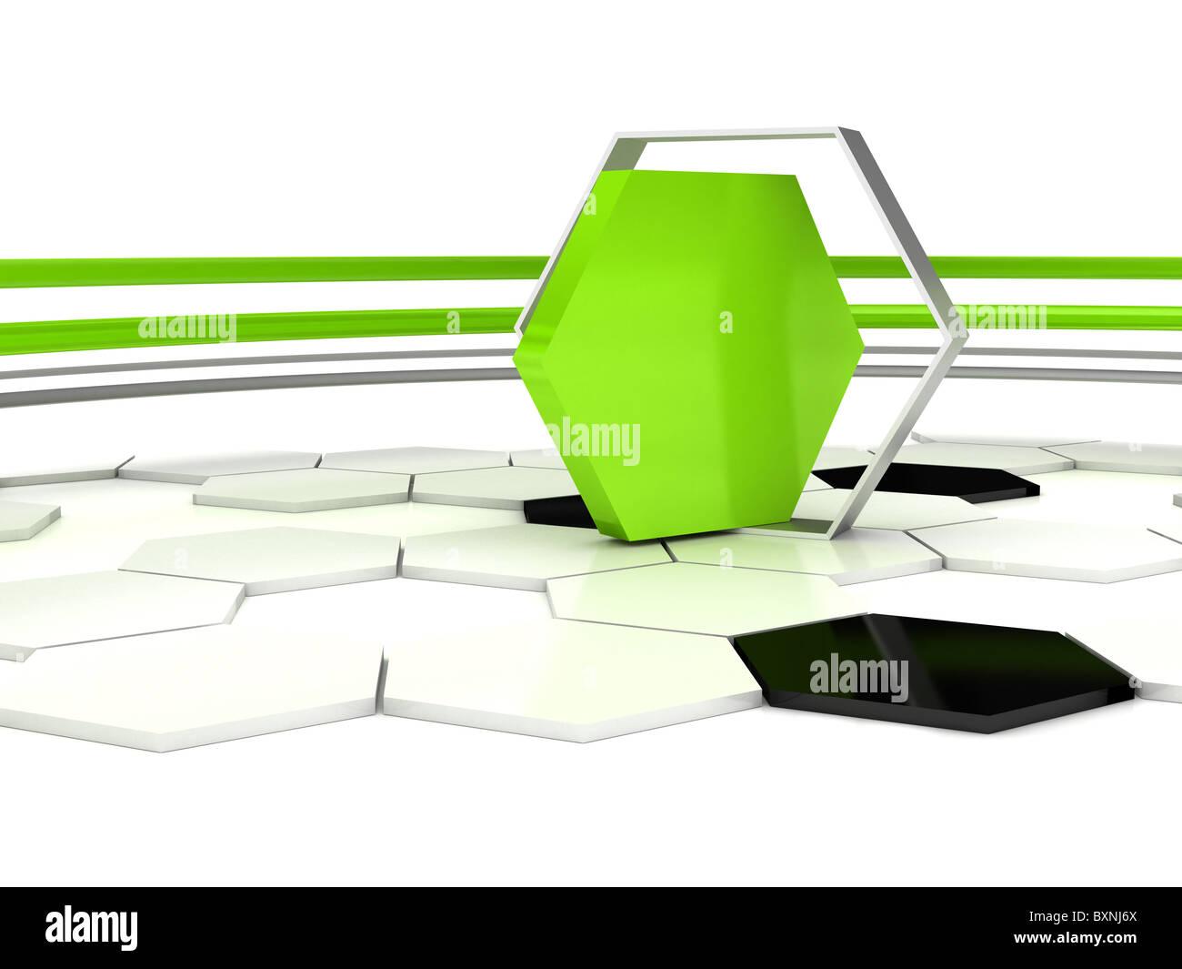 3D abstrakten Hintergrund. Stockbild