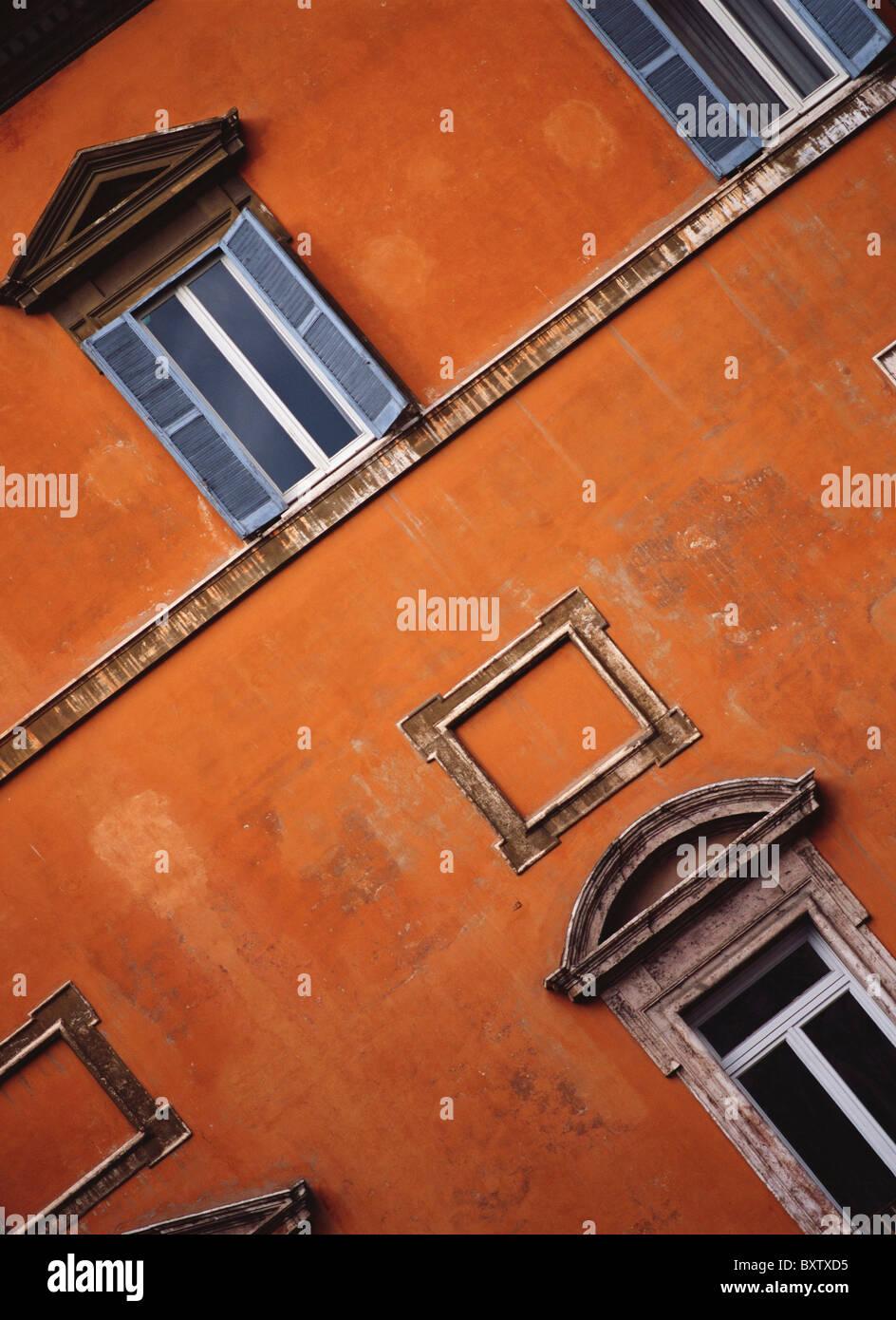 Detail des Orange-Gebäude Stockbild