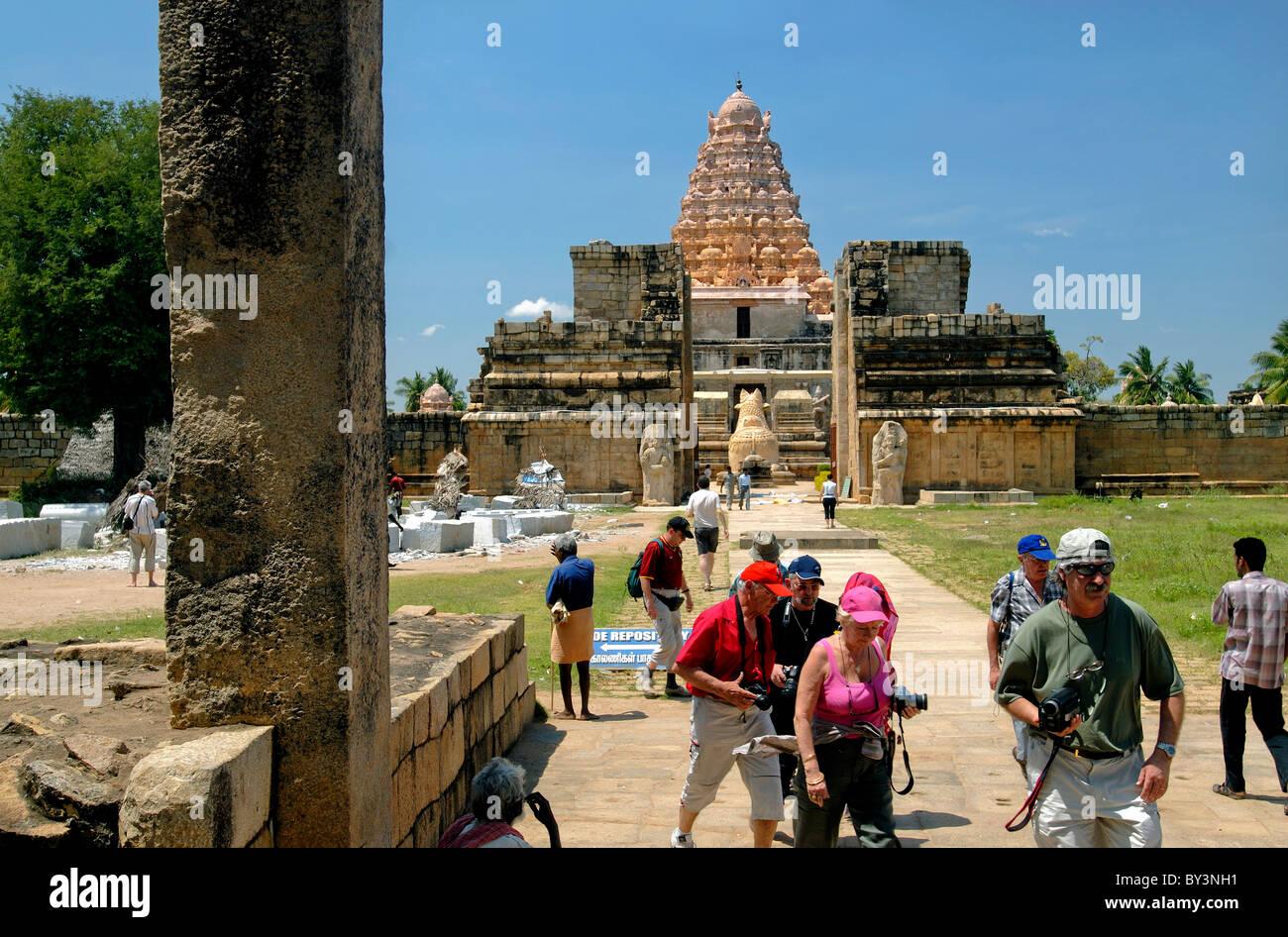 SHIVA-TEMPEL IN GANGAIKONDACHOLAPURAM TAMILNADU Stockbild