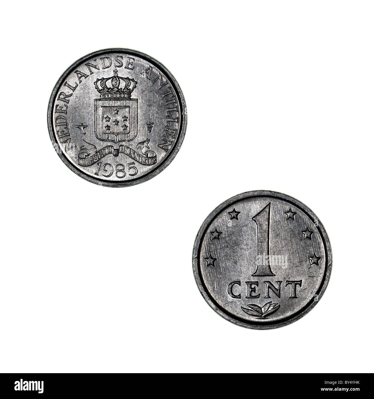 Niederländische Antillen-Münze Stockbild