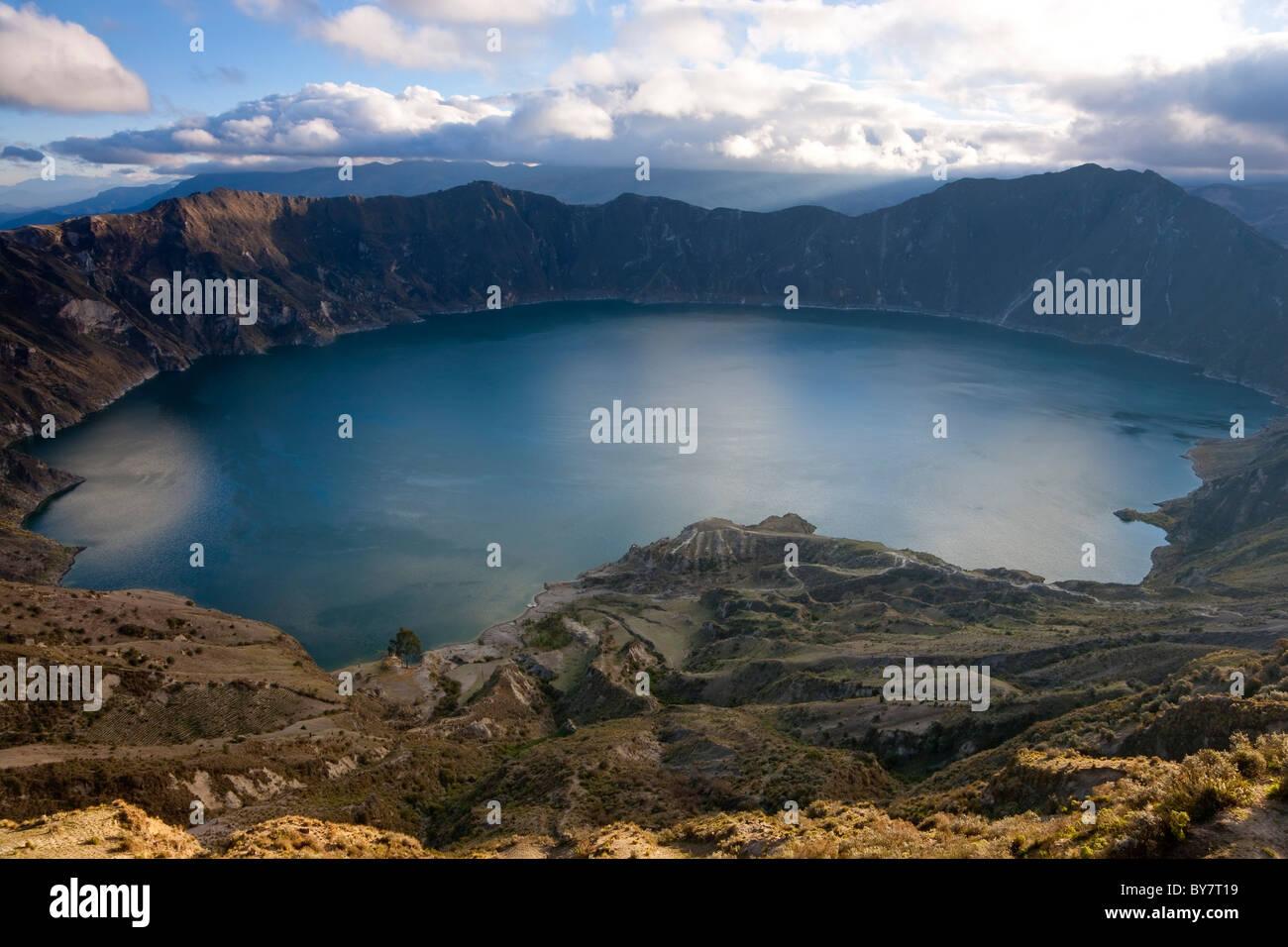 Vulkanische Quilotoa Kratersee Quilotoa Ecuador Stockbild