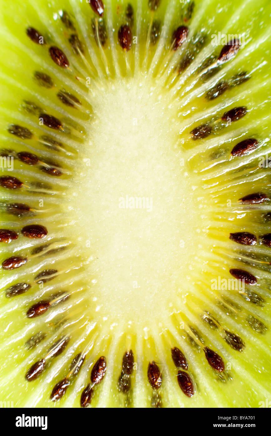 Kiwi-Makro-Detail Stockbild