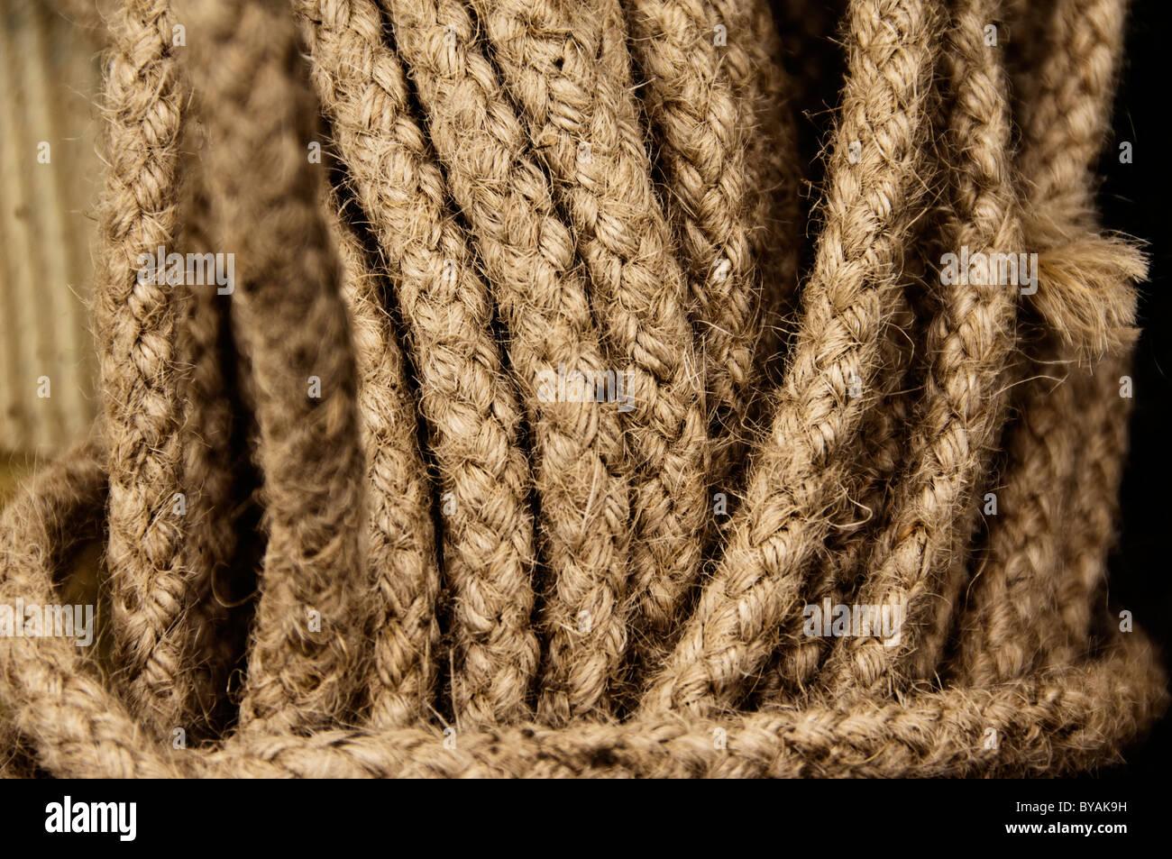 Spiralkabel Seil Stockbild