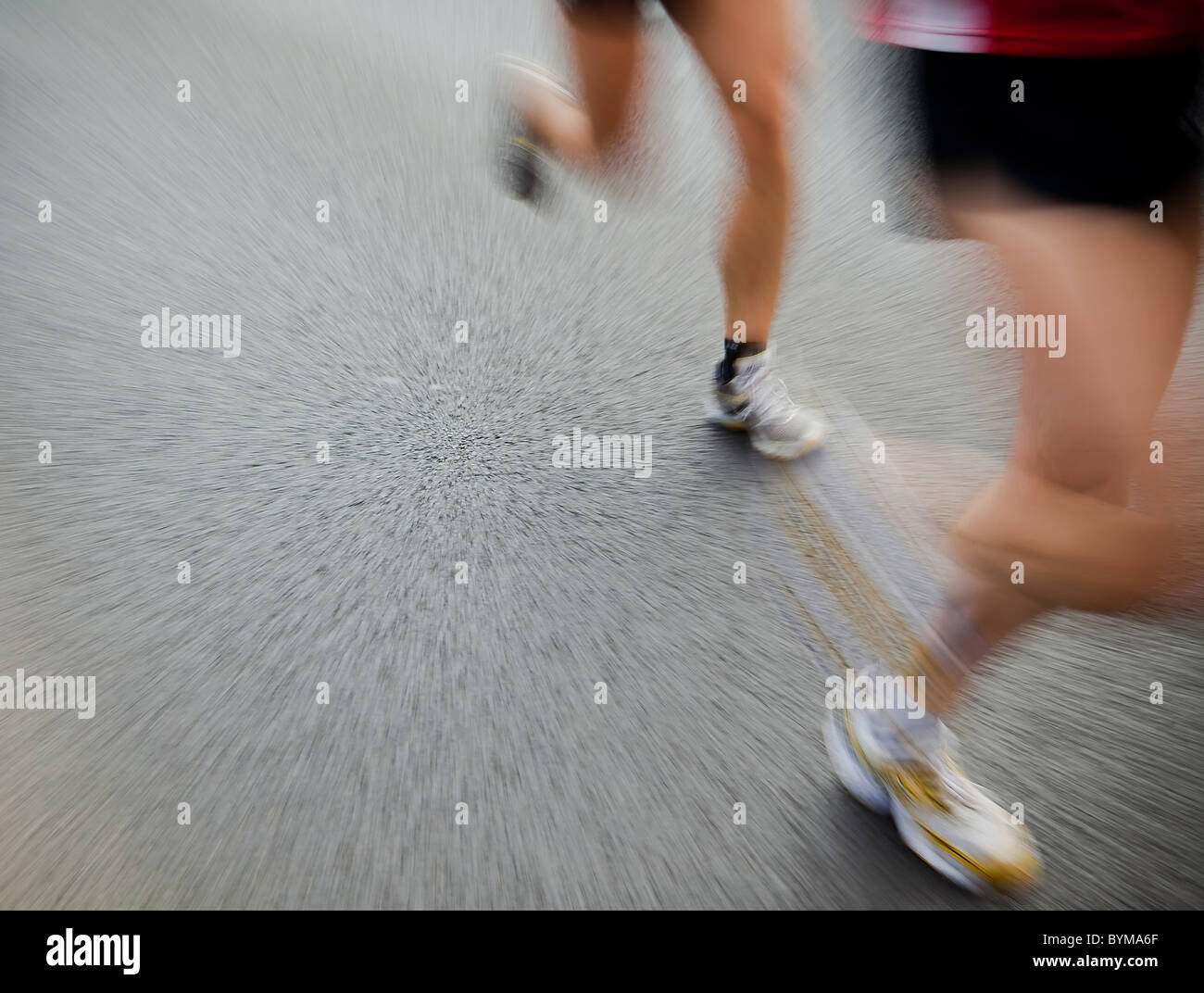 Mann läuft in-City-marathon Stockbild