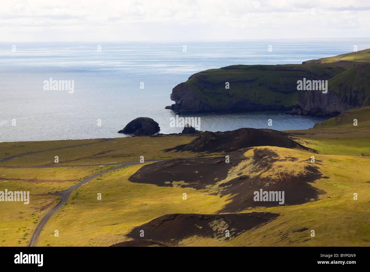 Küste Westermänner-Inseln, Island, Europa Küste der Insel Westmen Island Stockbild