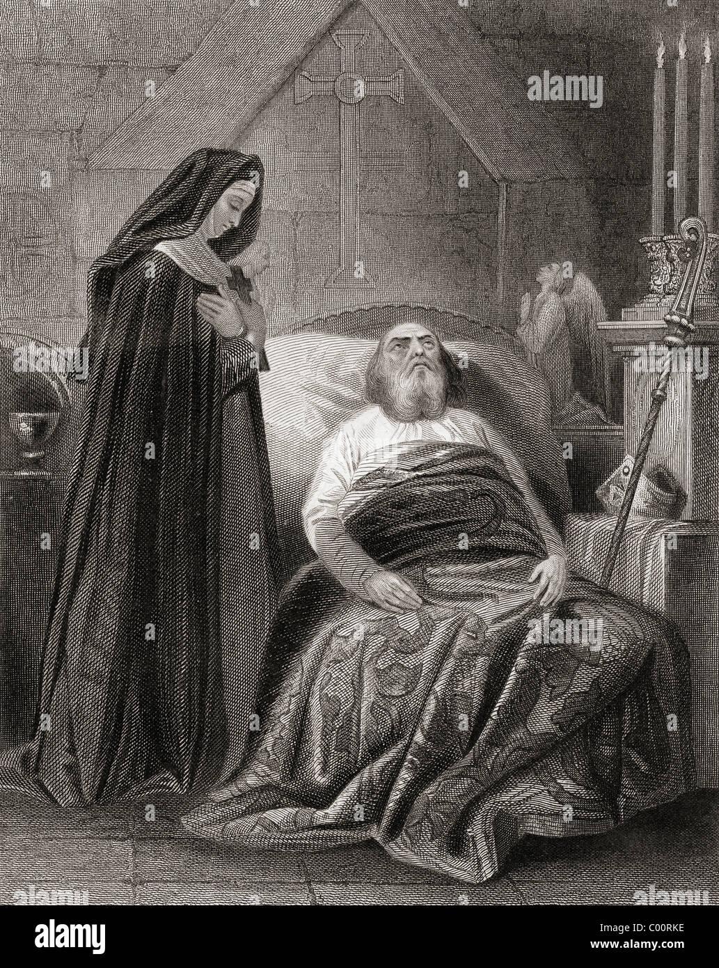 Tod von St. Patrick. Stockbild