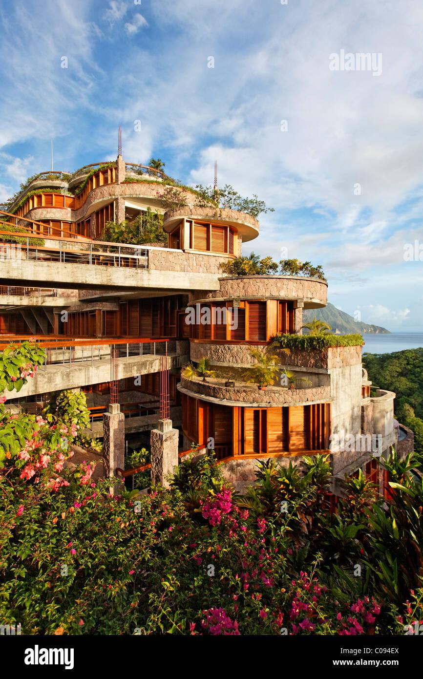 Jade Mountain-Luxus-Hotel, Saint Lucia, Windward-Inseln, kleine Antillen, Karibik, Karibik Stockbild
