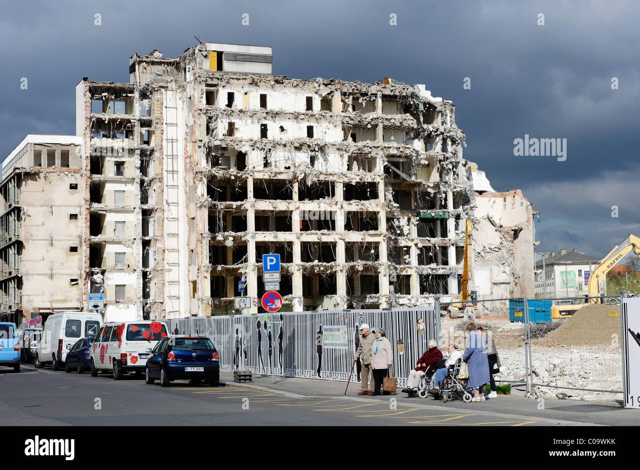 Haus Demolation am Richard-Wagner-Straße, Leipzig, Sachsen, Deutschland, Europa Stockbild