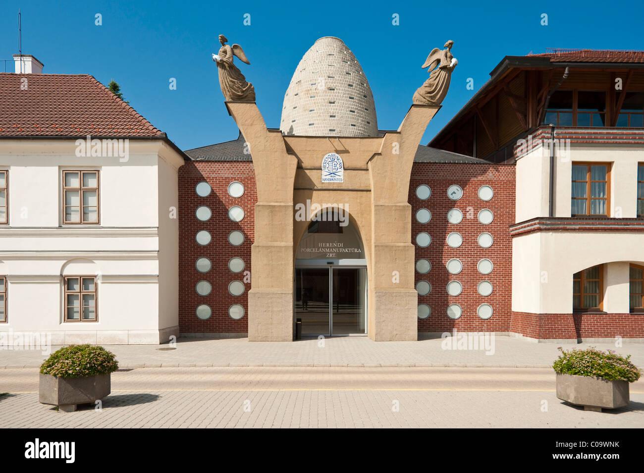 Porzellanmanufaktur und Porzellanmuseum, Herend, Ungarn, Europa Stockbild