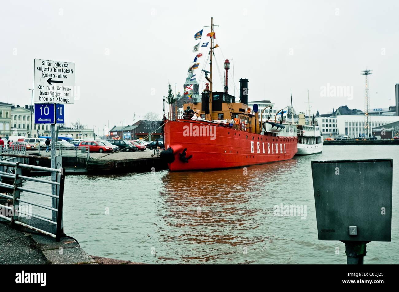 Hafer verankert im Hafen, täglichen Lebens Helsinki, Finnland Stockbild