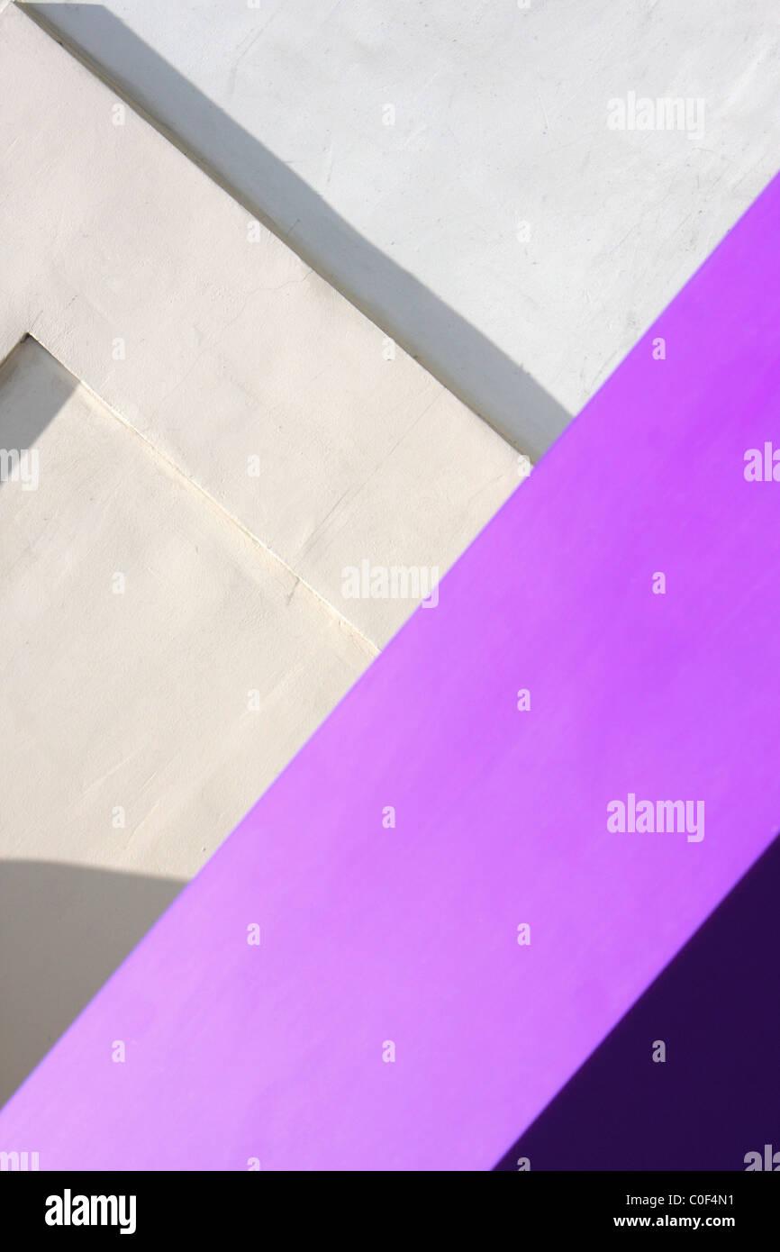 Geometrische Abstraktion auf der Stadtmauer Stockbild